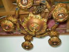 antique art deco chandelier cast polychrome 5 LIGHT