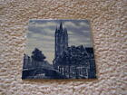 RARE - VERY OLD -  OUDE KERK DELFT TILE - BLUE HAND PAINTED  - MADE IN HOLLAND