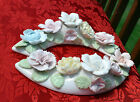 Rare Ardalt Japan Verithin Porcelain Ring Floral Candle Holder Vintage