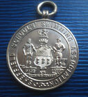 Vintage Sterling Silver Sheffield  Swimming Fob Medal  -  h/m 1908 Sheffield