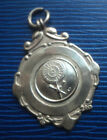 Sterling Silver Darts Medal / Watch Fob h/m 1946 Fattorini & Sons  -  W.W.D.L.