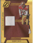 Jerry Rice 05 Donruss Zenith GOLD Game Worn Jersey Patch Prime 49ers RARE 100