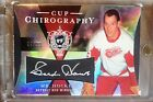 07-08 UD THE CUP CHIROGRAPHY GORDIE HOWE AUTO SIGNATURE #08 50 DETROIT RED WINGS