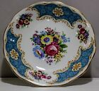 Vintage Pretty Blue Trim with Floral Bouquets Royal Standard Saucer Plate
