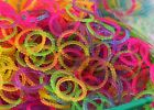 hotsell NEW STYLE RAINBOW PEARL BEADED LOOM BANDS *300 + 24-S-CLIPS f29