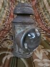 Copper Mining Miners Carbide or Oil Lamp Metal w Glass Lens Antique Lantern