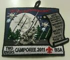 2011 PIEDMONT COUNCIL, NORTH CAROLINA 'TWO RIVERS DISTRICT CAMPOREE' PATCH