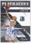JASON KIDD 2010-11 PRESTIGE PLAYMAKERS AUTO 3 10 MAVERICKS AUTOGRAPH ON CARD