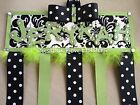 Hair Bow Holder - Damask - Any Accent Color - Any Name