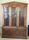 Drexel Heritage China Cabinet/ Vintage Mid Century Walnut China Hutch Buffet