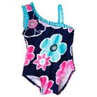 Circo Infant Girls One Piece Swimsuit Flowers One Shoulder Size 12M NWT