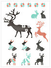Stencils Airbrush Painting Decorative Wall Art Home Decor DIY Deer And Rabbit