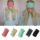 1PCS Crochet Headband Knit Hairband Flower Winter Women Ear Warmer Head Wrap