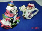 Older Fitz and Floyd Creamer Sugar Nutcracker Sweets Line Dated 1992 Handpainted