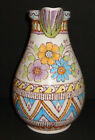 VINTAGE ITALIAN POTTERY VASE PITCHER MAJOLICA VINCENZO PINTO SIGNED ITALY 1890-