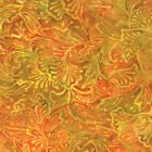 Yellow Orange Gold Leaves Sun Drenched Batik Fabric - Moda - BTY - 4326 35