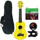 Kala MK SD YLBURST Makala Yellow Burst Soprano Ukulele Uke Tuner Bag Strings
