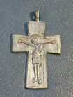 REPRODUCTION ANCIENT BRONZE BYZANTINE CROSS CRUCIFIX PENDANT HOLLY CHRISTIAN