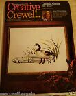 Erica Wilson Crewel Canada Goose Vintage Kit 1973 Canadian Geese 20 x 16 Kit