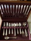 1927 Oneida Community Paul Revere Silverplate Flatware Set For 12+Serv Pcs (#10)