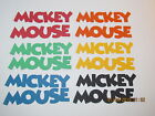 Mickey Mouse Titles  DISNEY Bright Colors Cricut Die Cuts  Worldwide