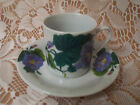Demitasse Cup and Saucer Set With Beautiful Painted Flowers