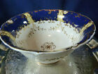 H & R DANIEL SHELL SHAPE SLOP BOWL COBALT MOLDED RIMS  c1829