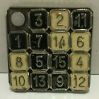 Vintage Modern Brands Imp Numbers Puzzle Metal New York USA Game Toys