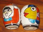 DESIMONE Salt & Pepper Shakers Italy Fisherboy With First Catch  EEUC!!