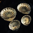 Gorham Silver Plate Clam Shell Caviar Dishes Set Of 4