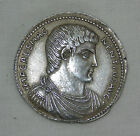 REPRODUCTION ANTIQUE ANCIENT ROMAN EMPEROR MAGNENTIUS STERLING SILVER MEDALLION