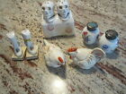 SALT & PEPPER SHAKERS - 4 VINTAGE SETS - 3 JAPAN 1 - GERMAN