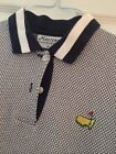 Masters Collection Women's SS Golf Polo Shirt Augusta National Navy White M