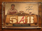 2011 Topps Triple Threads Wood Rookie On-card Auto Relic Freddie Freeman #1 1!!!