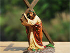 CHRISTIAN RELIGIOUS STATUE of JESUS with RUGGED CROSS on way to GOLGOTHA