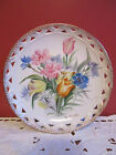 Vintage UCAGCO China Floral with Gold Trim Occupied Japan Plate -Basket Weave