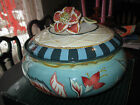 Fitz & Floyd Dapper Rabbits Spring/Easter Covered Bowl Tureen Cookie Jar RETIRED
