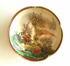 Japanese Bowl Satsuma Pottery Hand-painted with Gold Gilt