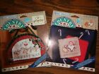 free ship! 2 DAISY KINGDOM country NO SEW MINI applique CHRISTMAS CRAFTS project