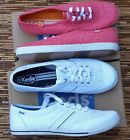 KEDS WOMENS SPORT SNEAKERS PADED INSOLE LACE UP GUM RUBBER OUTSOLE