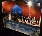 Art Work Landscape Of San Francisco By Miguel Castro Air Brush Acrylic