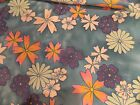 RETRO FABRIC LARGE PRINT FLOWER PATTERN 7 FT 4'' BY 3 FT 9 '' MULTI COLOR