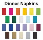 2 ply Paper Dinner Napkins Folded Guest Hand Towels Solid Colors Disposable