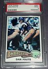 PSA 9 MINT RC Rookie Dan Fouts Chargers 1975 Topps #367