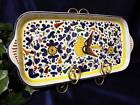 DERUTA ARABESCO BIRD Italian Pottery Large SERVING PLATTER Antipasto Tray ITALY