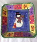 Sango Sweet Shoppe Christmas square serving dish,plate, 1.5