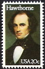US 1983 20 Cents Nathaniel Hawthorne Literary Arts Series Issue  2047 VF NH