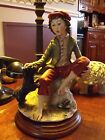 BOY WITH DOG. DEAR SCULPTURE CAPODIMONTE FIGURINE MADE IN ITALY.FREE SHIPPING.