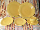 6 PIECE VINTAGE 1936  YELLOW FIESTA PLACE SETTING  -FIESTAWARE   rc