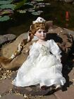 Limited Edition Porclelain Bride Doll with very Long Braided Hair, 17''
